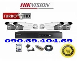 Trọn Bộ camera kho xưởng HDTVI HIKVISION DS-2CE16COT-IT3
