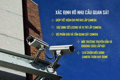Lắp đặt hệ thống camera quan sát ngoài trời